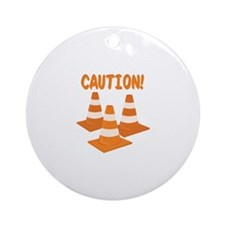 Caution Ornament (Round)