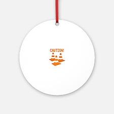 Caution Ornament (Round)