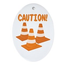 Caution Ornament (Oval)