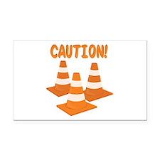 Caution Rectangle Car Magnet