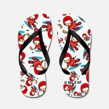 Ice Hockey Penguin Flip Flops