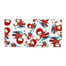 Ice Hockey Penguin Beach Towel