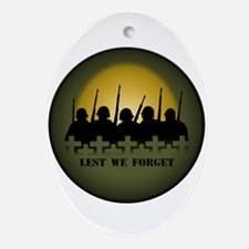 Remembrance Day Oval Ornament