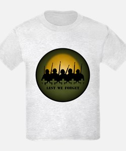 Remembrance Day Kids T-Shirt Soldiers Tribute Tees