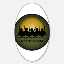 Remembrance Day Oval Decal