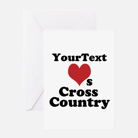 Customize Loves Cross Country Greeting Cards