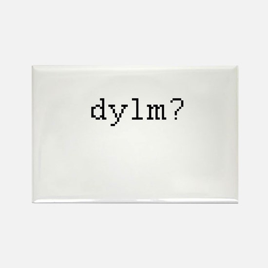 dylm? - Do you like me? Rectangle Magnet