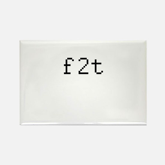 f2t - free to talk? Rectangle Magnet