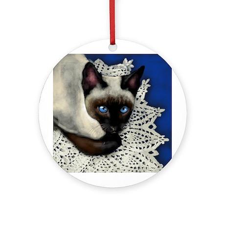 Siamese Cat Ornament (Round)