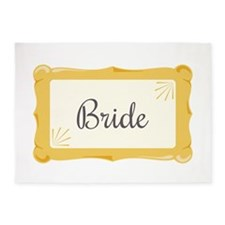 Bride Sign 5'x7'Area Rug
