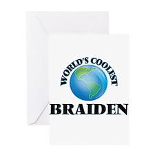 World's Coolest Braiden Greeting Cards