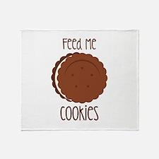 Feed Me Cookies Throw Blanket
