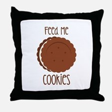 Feed Me Cookies Throw Pillow