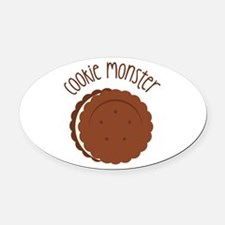 Cookie Monster Oval Car Magnet