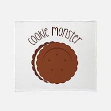 Cookie Monster Throw Blanket