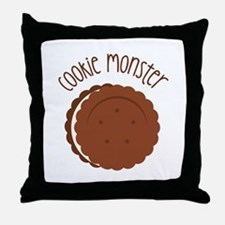 Cookie Monster Throw Pillow