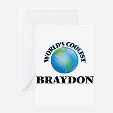 World's Coolest Braydon Greeting Cards