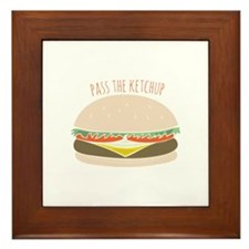 Pass The Ketchup Framed Tile