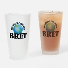 World's Coolest Bret Drinking Glass