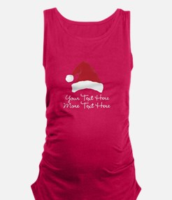 Your Text Here Santa Hat Design Maternity Tank Top