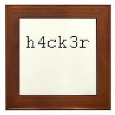 h4ck3r - Hacker Framed Tile