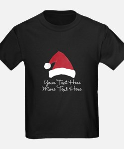 Your Text Here Santa Hat Design T-Shirt