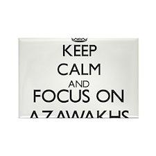 Keep calm and focus on Azawakhs Magnets