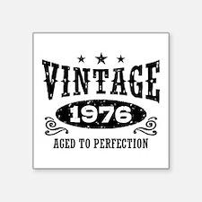 "Vintage 1976 Square Sticker 3"" x 3"""