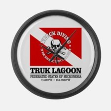 Truk Lagoon Large Wall Clock