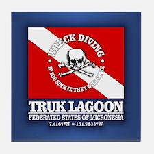 Truk Lagoon Tile Coaster