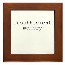 insufficient memory Framed Tile