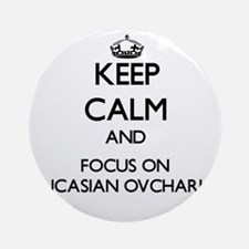 Keep calm and focus on Caucasian Ornament (Round)