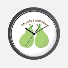 A Great Pear Wall Clock