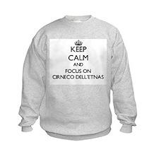 Keep calm and focus on Cirneco Del Sweatshirt
