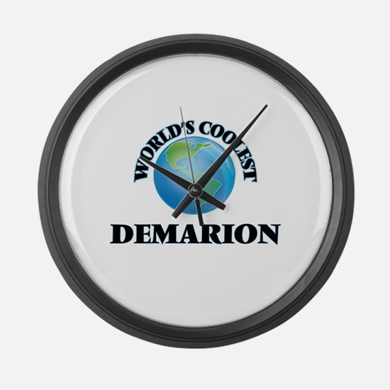 World's Coolest Demarion Large Wall Clock