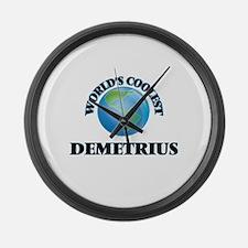 World's Coolest Demetrius Large Wall Clock