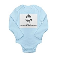 Keep calm and focus on Entlebucher Mount Body Suit