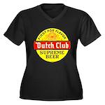 Dutch Club Beer-1952 Women's Plus Size V-Neck Dark