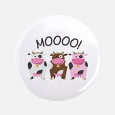 "Moo Cow 3.5"" Button"
