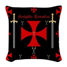Knights Templar Woven Throw Pillow