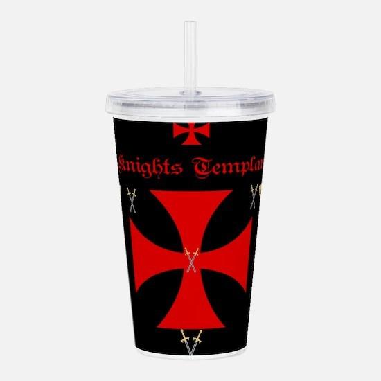 Knights Templar Acrylic Double-wall Tumbler