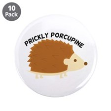"""Prickly Procupine 3.5"""" Button (10 pack)"""