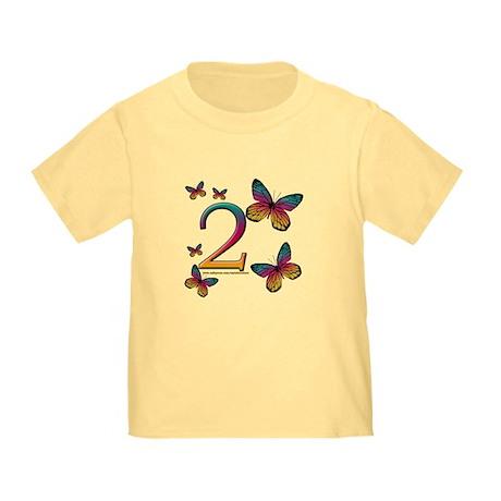 Butterflies 2nd Birthday Toddler T-Shirt