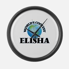 World's Coolest Elisha Large Wall Clock