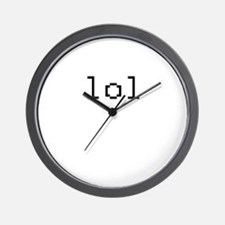 lol - laughing out loud Wall Clock