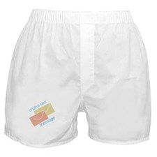 Text Message Boxer Shorts