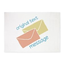 Text Message 5'x7'Area Rug