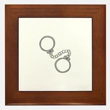 Handcuffs Framed Tile