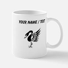 Custom Swan Silhouette Mugs