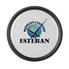World's Coolest Esteban Large Wall Clock